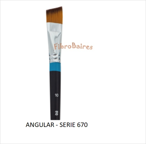 Pincel angular - Serie 670 N° 6