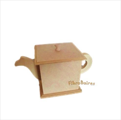 Azucarera tetera con tapa 8 x 8 x 8,5 cm