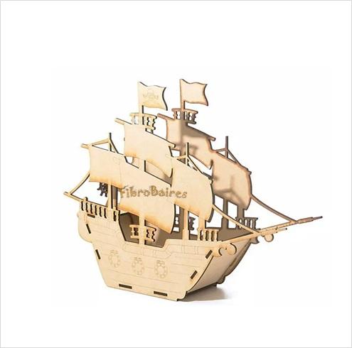Barco pirata 30 x 35 cm