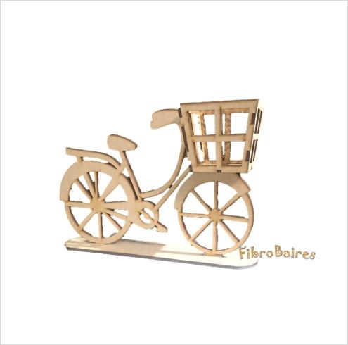Bicicleta 26 x 16,5 cm con base y canasto de 8 x 8cm
