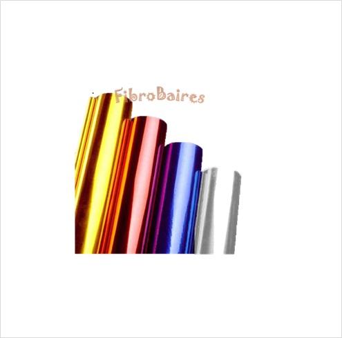 Foil metalizado 5 hojas A 4 en colores cobre-dorado-rojo-azul-plateado